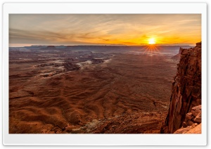 Canyonlands National Park, Sunset HD Wide Wallpaper for 4K UHD Widescreen desktop & smartphone
