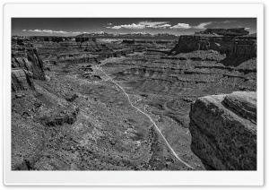 Canyonlands National Park, Utah, Black and White HD Wide Wallpaper for Widescreen