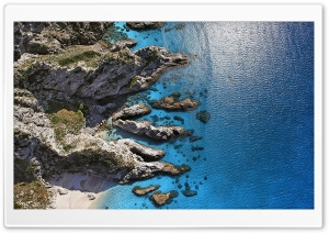 Capo Vaticano, Italy, Aerial View HD Wide Wallpaper for Widescreen