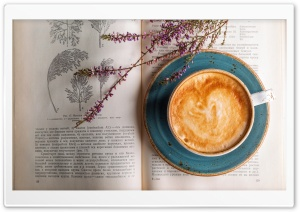 Cappuccino, Old Botany Book HD Wide Wallpaper for Widescreen