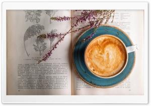 Cappuccino, Old Botany Book HD Wide Wallpaper for 4K UHD Widescreen desktop & smartphone