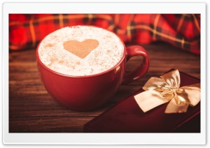 Cappuccino With Heart On Foam HD Wide Wallpaper for 4K UHD Widescreen desktop & smartphone