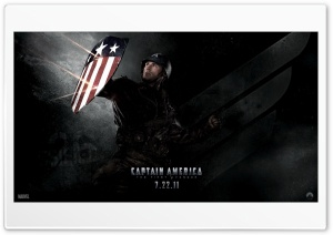 Captain America (2011) - Shield HD Wide Wallpaper for Widescreen