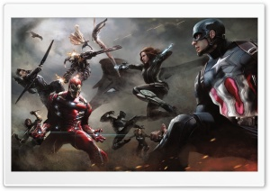 Captain America Civil War Artwork HD Wide Wallpaper for Widescreen