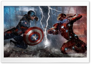 Captain America Civil War Concept HD Wide Wallpaper for Widescreen