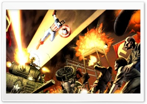 Captain America Comics HD Wide Wallpaper for Widescreen