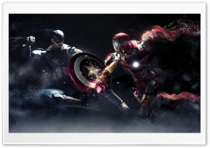 Captain America vs Iron Man HD Wide Wallpaper for Widescreen