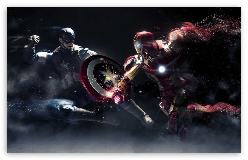 Download Captain America vs Iron Man HD Wallpaper