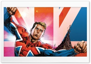 Captain Britain HD Wide Wallpaper for Widescreen