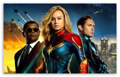 Captain Marvel 2019 4k Hd Desktop Wallpaper For Wide Ultra