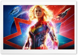Captain Marvel 4K 5K Ultra HD Wallpaper for 4K UHD Widescreen desktop, tablet & smartphone