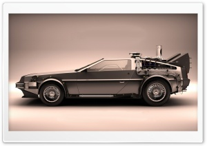 Car From Back To The Future HD Wide Wallpaper for Widescreen