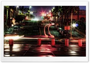 Car Lights At Night Ultra HD Wallpaper for 4K UHD Widescreen desktop, tablet & smartphone