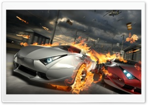 Car Race HD Wide Wallpaper for Widescreen
