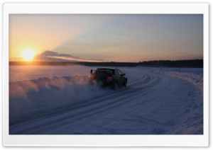 Car Racing On Snow HD Wide Wallpaper for Widescreen