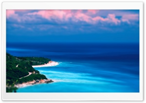 Caribbean Coast Tilt-Shift HD Wide Wallpaper for Widescreen