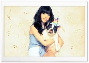 Carly Rae Jepsen - Dog HD Wide Wallpaper for Widescreen