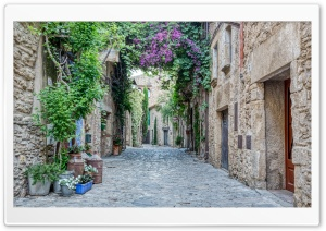 Carrer Major Peratallada, Catalonia Ultra HD Wallpaper for 4K UHD Widescreen desktop, tablet & smartphone