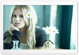 Carrie Underwood with Flowers HD Wide Wallpaper for Widescreen