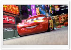 Cars 2 (2011), Lightning McQueen HD Wide Wallpaper for Widescreen