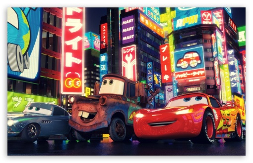 Cars 2 The Movie HD wallpaper for Wide 16:10 5:3 Widescreen WHXGA WQXGA WUXGA WXGA WGA ; Mobile WVGA PSP - WVGA WQVGA Smartphone ( HTC Samsung Sony Ericsson LG Vertu MIO ) Sony PSP Zune HD Zen ;