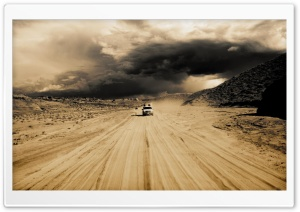 Cars In The Desert HD Wide Wallpaper for Widescreen