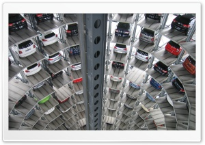 Cars Tower Parking Ultra HD Wallpaper for 4K UHD Widescreen desktop, tablet & smartphone