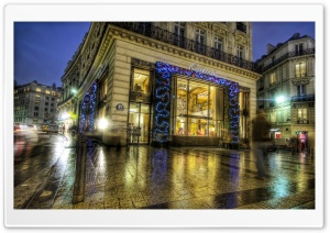 Cartier on the Champs Elysees at Christmas HD Wide Wallpaper for Widescreen