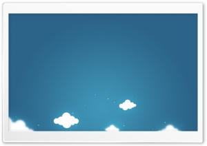 Cartoon Clouds And Blue Sky HD Wide Wallpaper for Widescreen