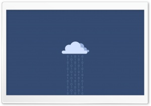 Cartoon Rain Cloud HD Wide Wallpaper for Widescreen