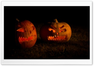 Carved Halloween Pumpkins HD Wide Wallpaper for 4K UHD Widescreen desktop & smartphone