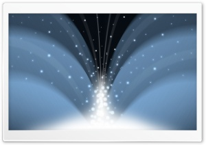Cascade Of Magic Powder Dark Blue HD Wide Wallpaper for Widescreen