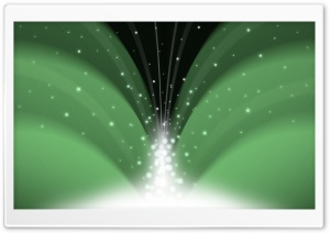 Cascade Of Magic Powder Dark Green HD Wide Wallpaper for Widescreen