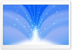 Cascade Of Magic Powder Light Blue HD Wide Wallpaper for Widescreen