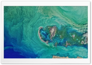 Caspian Sea from Space HD Wide Wallpaper for 4K UHD Widescreen desktop & smartphone