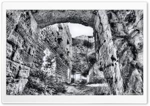 Castellcir Castle Ruins Ultra HD Wallpaper for 4K UHD Widescreen desktop, tablet & smartphone