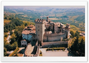 Castello di Vigoleno, Italy, Europe Ultra HD Wallpaper for 4K UHD Widescreen desktop, tablet & smartphone