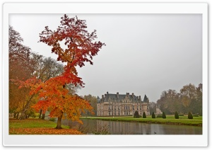 Castle Autumn HD Wide Wallpaper for Widescreen