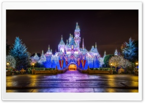 Castle, Christmas HD Wide Wallpaper for Widescreen
