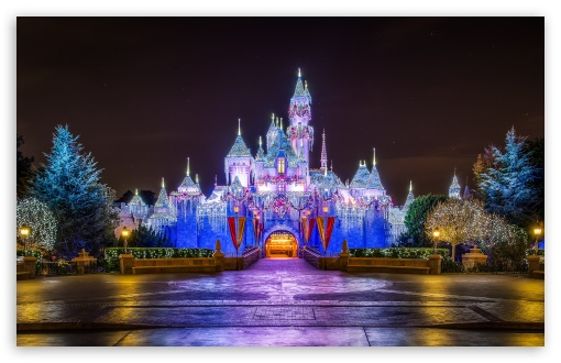 Walt Disney Christmas Wallpaper.Castle Christmas 4k Hd Desktop Wallpaper For 4k Ultra Hd