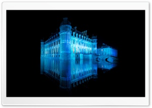 Castle In Blue Light HD Wide Wallpaper for Widescreen