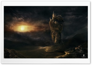 Castle In The Sky HD Wide Wallpaper for Widescreen