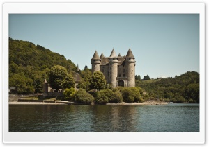 Castle Near River HD Wide Wallpaper for Widescreen