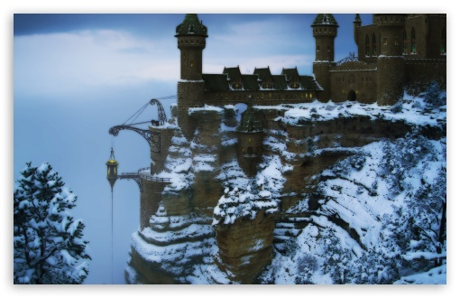 Castle On The Mountain Winter HD wallpaper for Wide 16:10 5:3 Widescreen WHXGA WQXGA WUXGA WXGA WGA ; HD 16:9 High Definition WQHD QWXGA 1080p 900p 720p QHD nHD ; Standard 4:3 5:4 3:2 Fullscreen UXGA XGA SVGA QSXGA SXGA DVGA HVGA HQVGA devices ( Apple PowerBook G4 iPhone 4 3G 3GS iPod Touch ) ; Tablet 1:1 ; iPad 1/2/Mini ; Mobile 4:3 5:3 3:2 16:9 5:4 - UXGA XGA SVGA WGA DVGA HVGA HQVGA devices ( Apple PowerBook G4 iPhone 4 3G 3GS iPod Touch ) WQHD QWXGA 1080p 900p 720p QHD nHD QSXGA SXGA ;