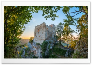 Castle Ruins HD Wide Wallpaper for Widescreen
