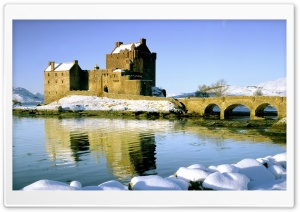 Castle Winter HD Wide Wallpaper for Widescreen