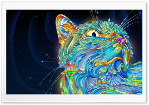 Cat Art HD Wide Wallpaper for 4K UHD Widescreen desktop & smartphone