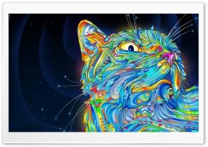 Cat Art HD Wide Wallpaper for Widescreen