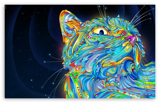 Cat Art HD wallpaper for Wide 16:10 5:3 Widescreen WHXGA WQXGA WUXGA WXGA WGA ; HD 16:9 High Definition WQHD QWXGA 1080p 900p 720p QHD nHD ; Mobile 5:3 16:9 - WGA WQHD QWXGA 1080p 900p 720p QHD nHD ;