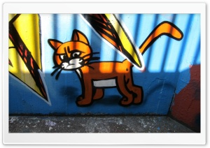 Cat Graffiti Art HD Wide Wallpaper for Widescreen